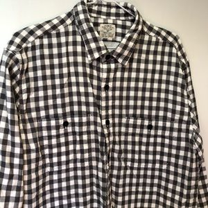 JCrew dark gray/white plaid work shirt/jacket